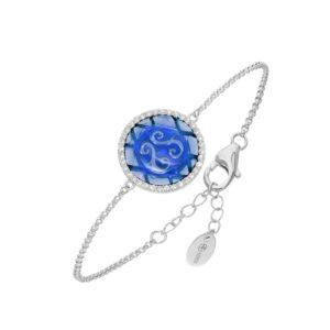 蓝铑银铑手链套装5