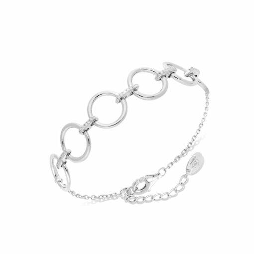 Élise gerhodineerde zilveren armband bezet met witte zirkonen 3