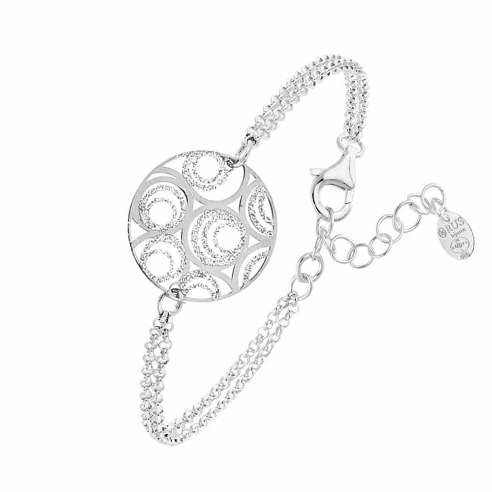 Bracelet argent rhodier Bubble scintillant 3
