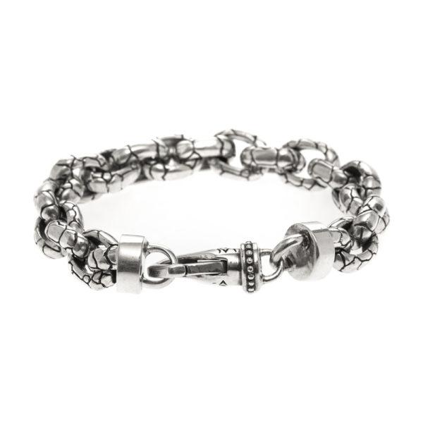 Bracelet homme argent rocaille 4