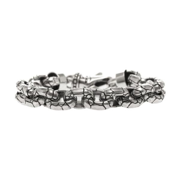 Bracelet homme argent rocaille 3