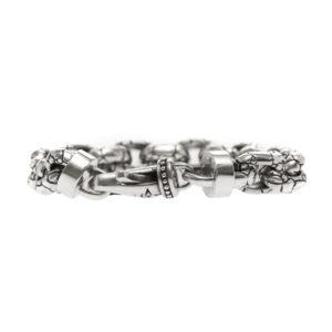 Bracelet homme argent rocaille 7