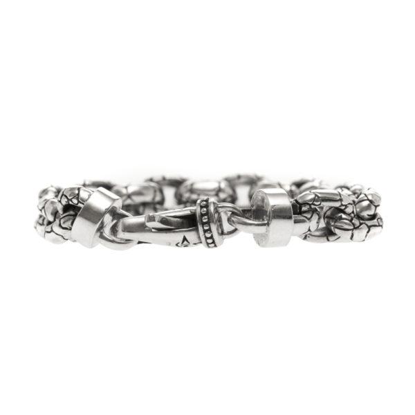Bracelet homme argent rocaille 1