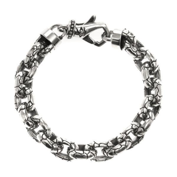 Bracelet homme argent rocaille 2