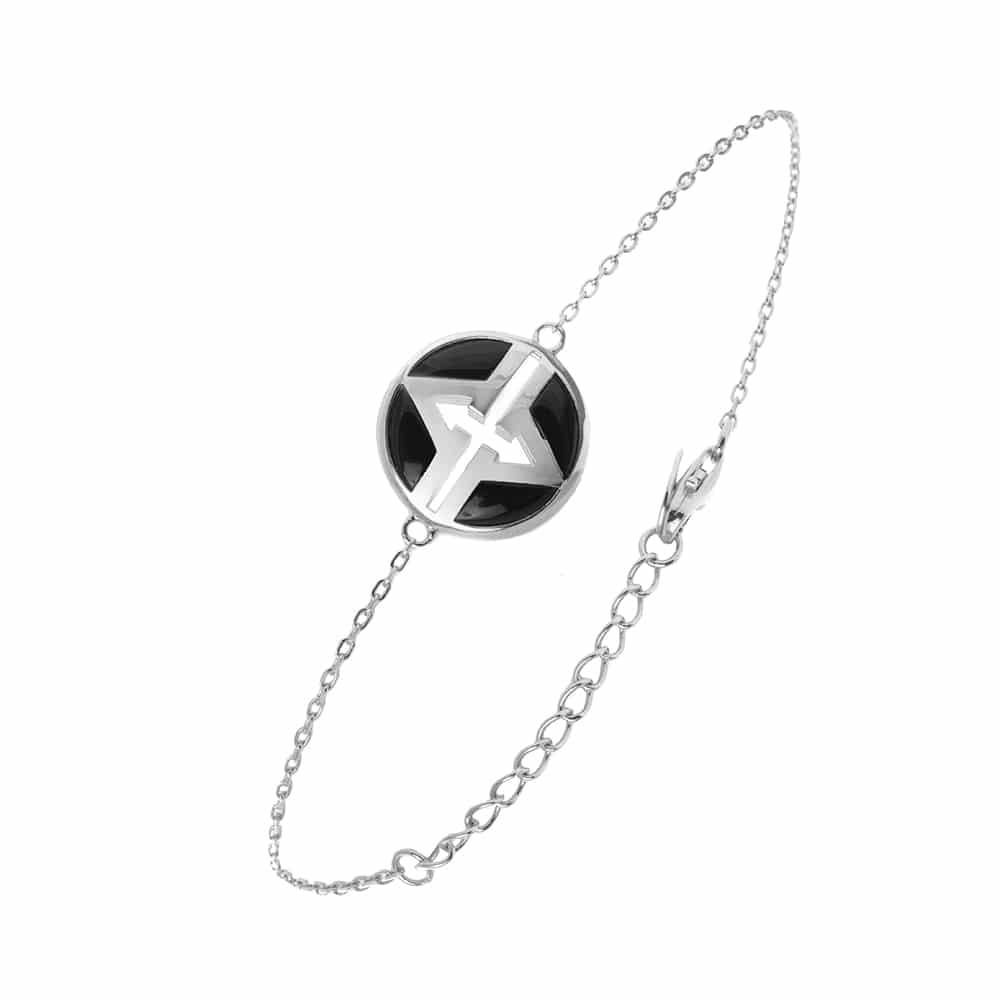 Bracelet argent virgin nacre et onyx 3