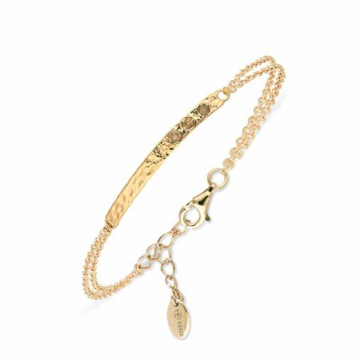 Bracelet barrette argent doré fumé 3