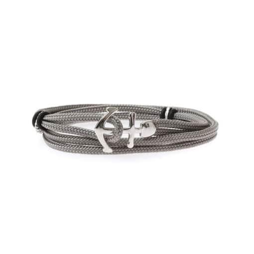 Gray double anchor cord bracelet 3