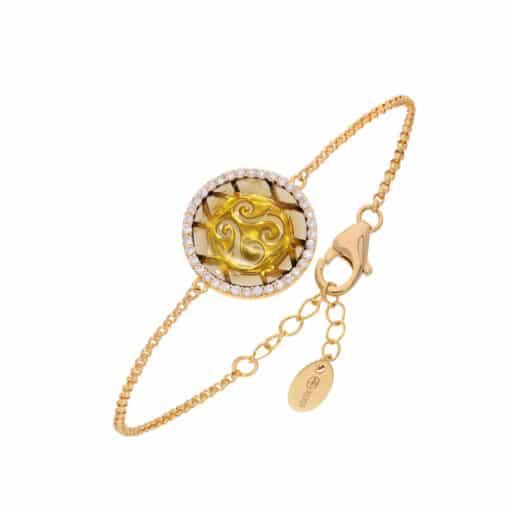 玫瑰金圆盘手链3
