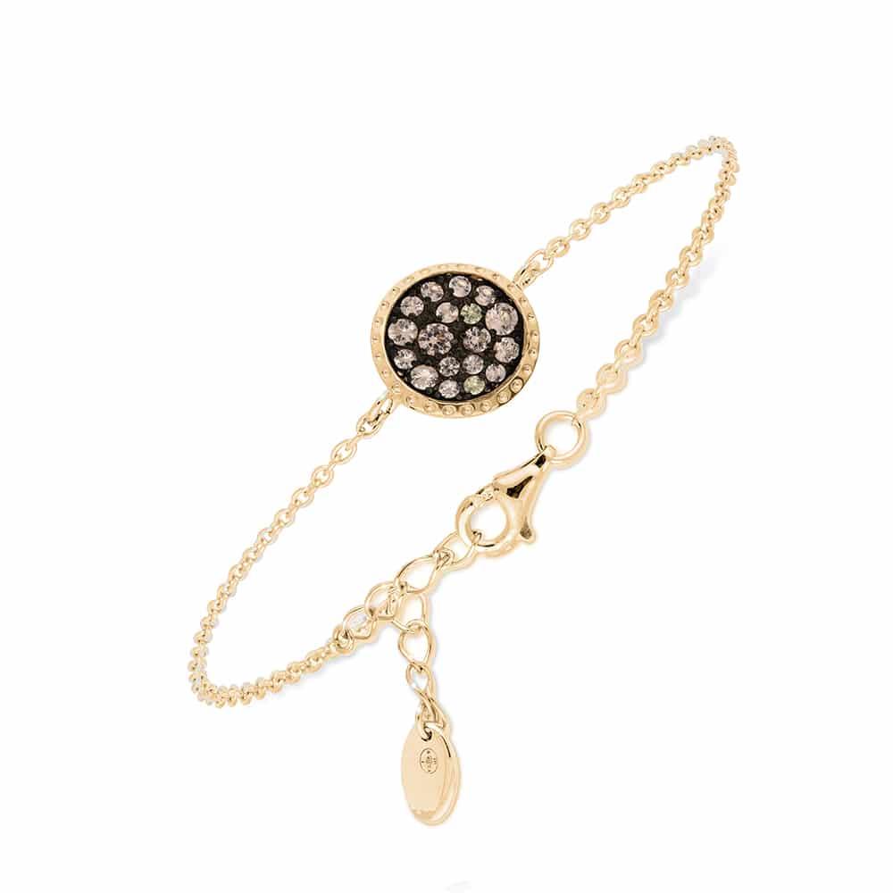 Bracelet doré ziconium champagne 1