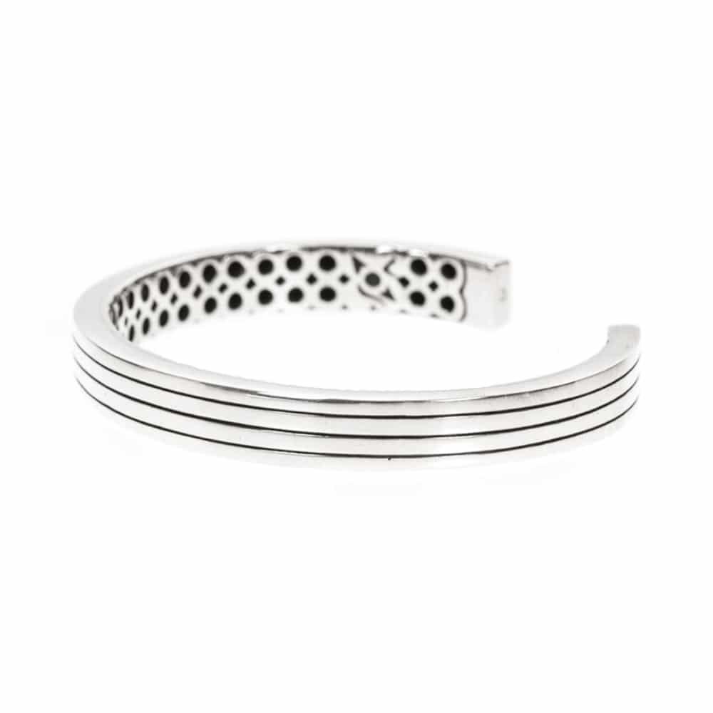 Bracelet esclave argent moderne ajustable 4