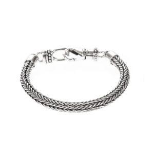 男士现代银编织网状手链7