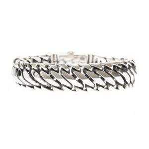 Bracelet homme reptile argent 6