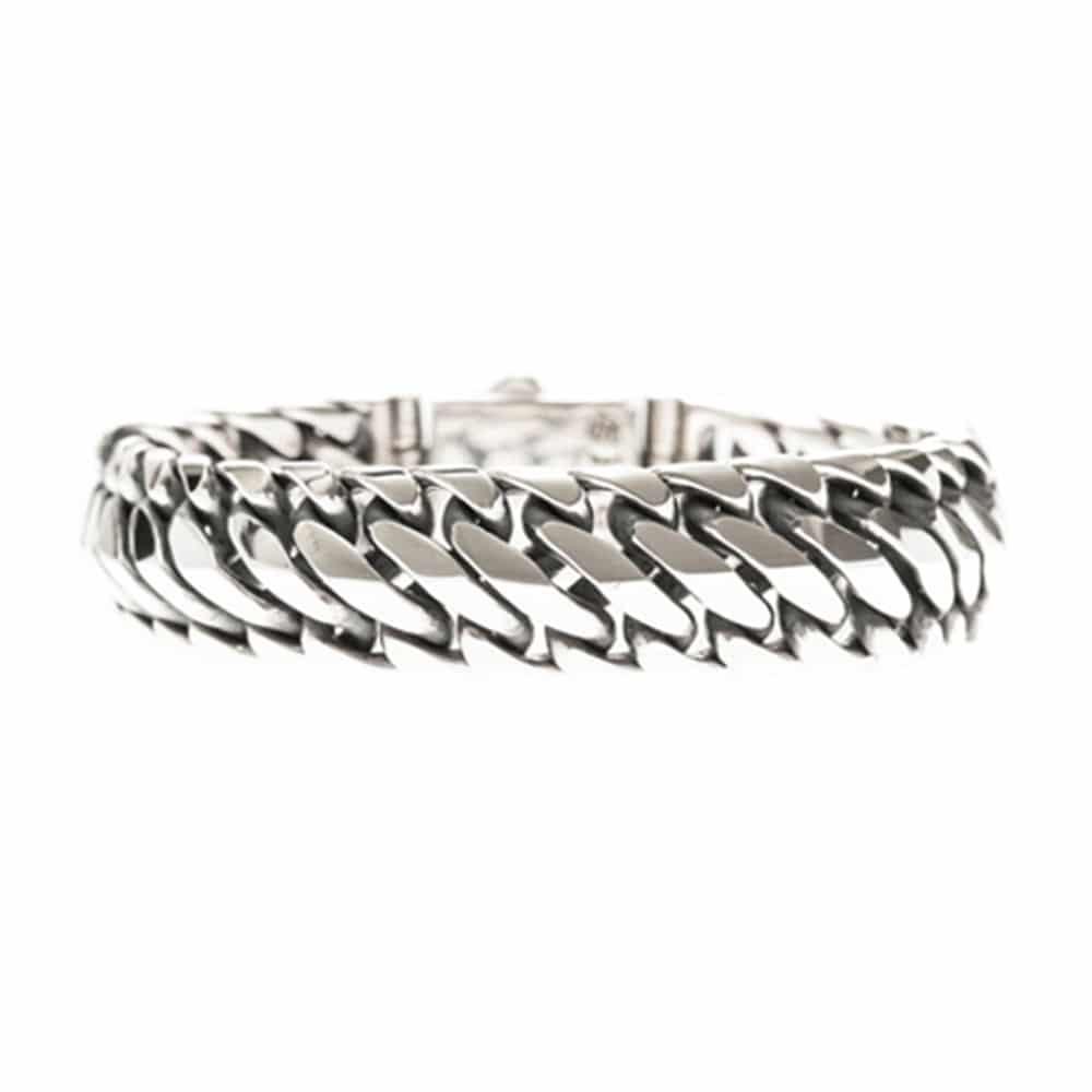 Bracelet homme reptile argent 3