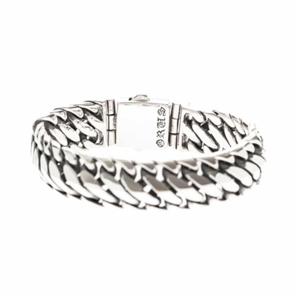 Bracelet homme reptile argent 5