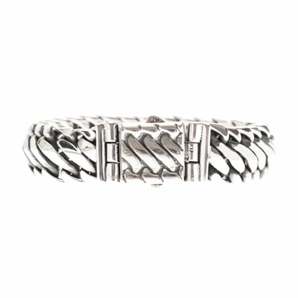 Bracelet homme reptile argent 4
