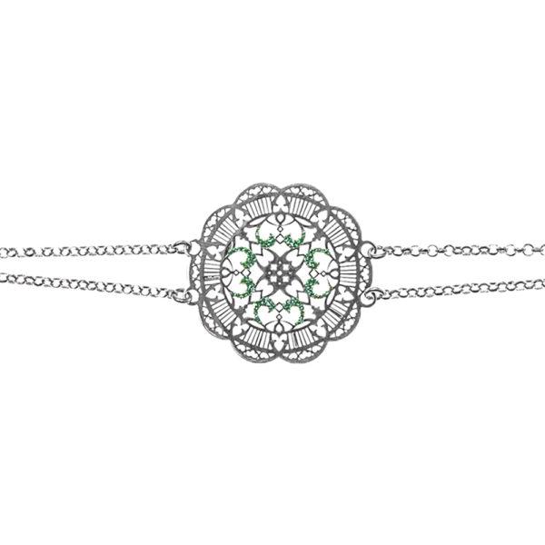 Bracelet inca argent et turquoise 2