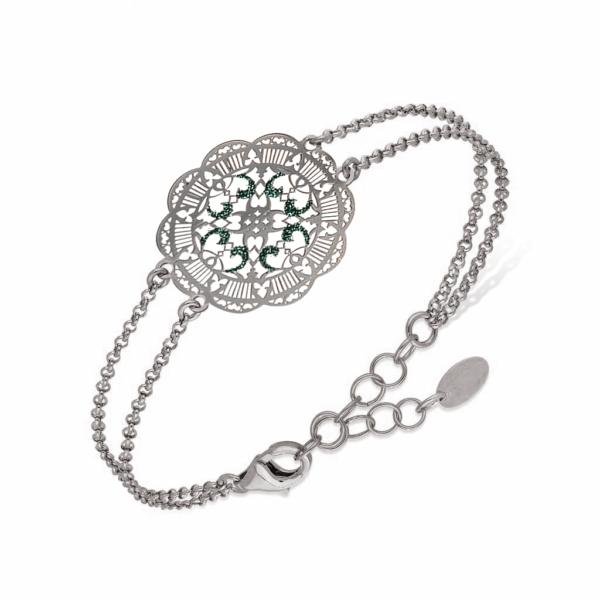 Bracelet inca argent et turquoise 1