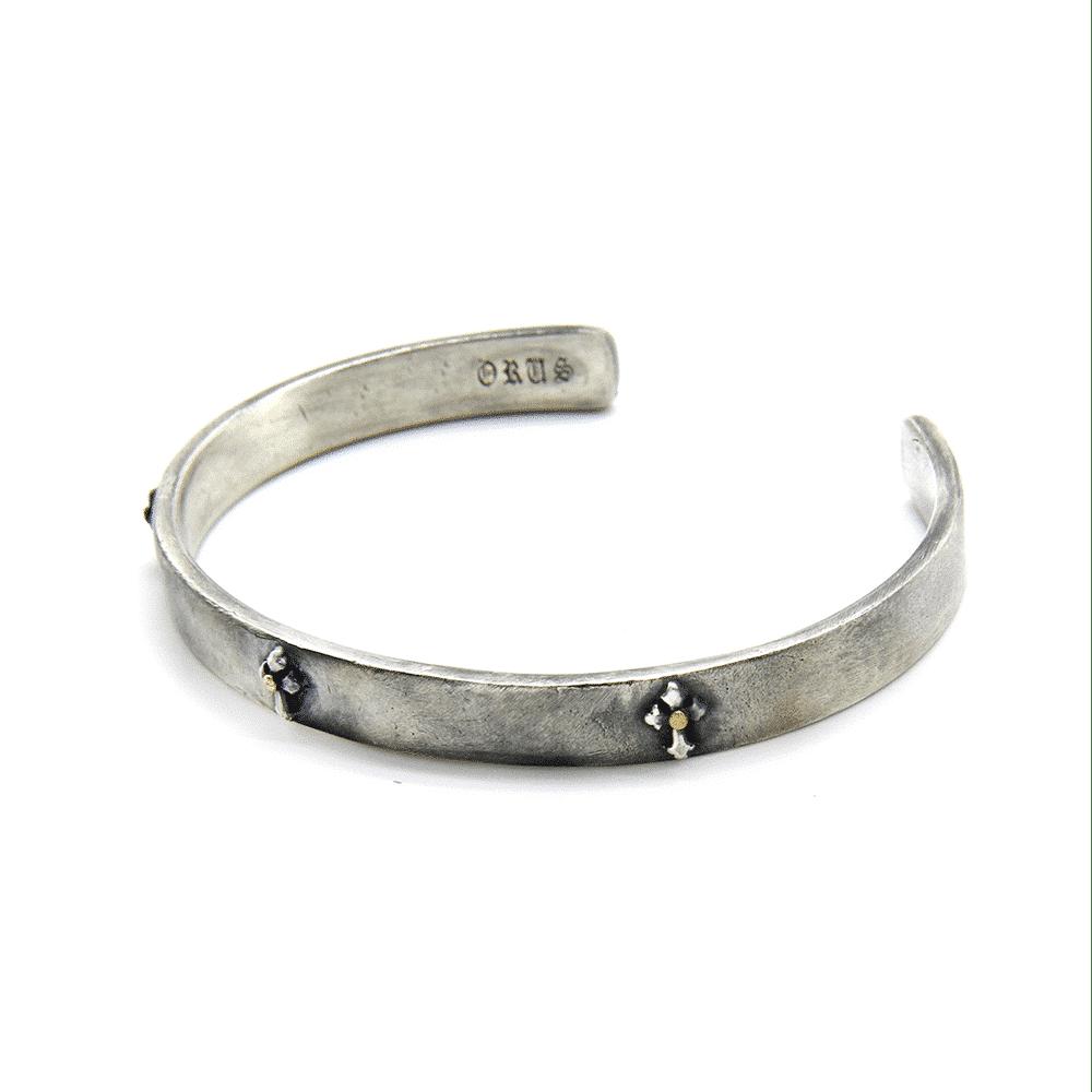 Bracelet homme jonc argent croix templier 2