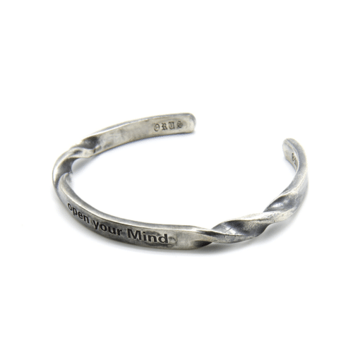 Bracelet jonc argent open your mind 3