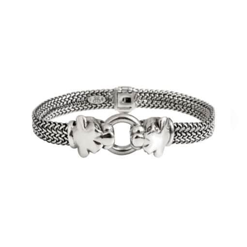 Bracelet homme argent panthère 2