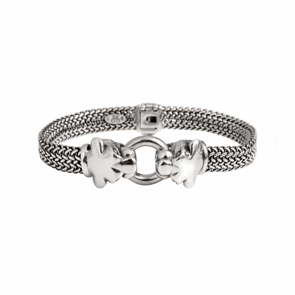 Bracelet homme argent panthère 3