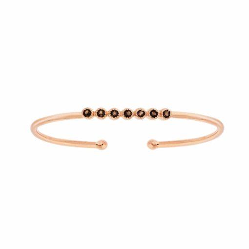 Bracelet jonc argent vertu rose grenat 3