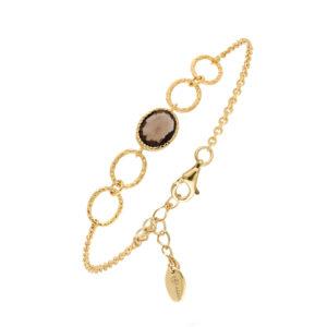 Bracelet antique quartz fumé 7
