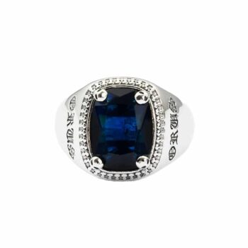 Men's silver signet ring