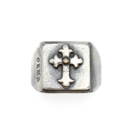 Chevalière homme croix argent templier 3