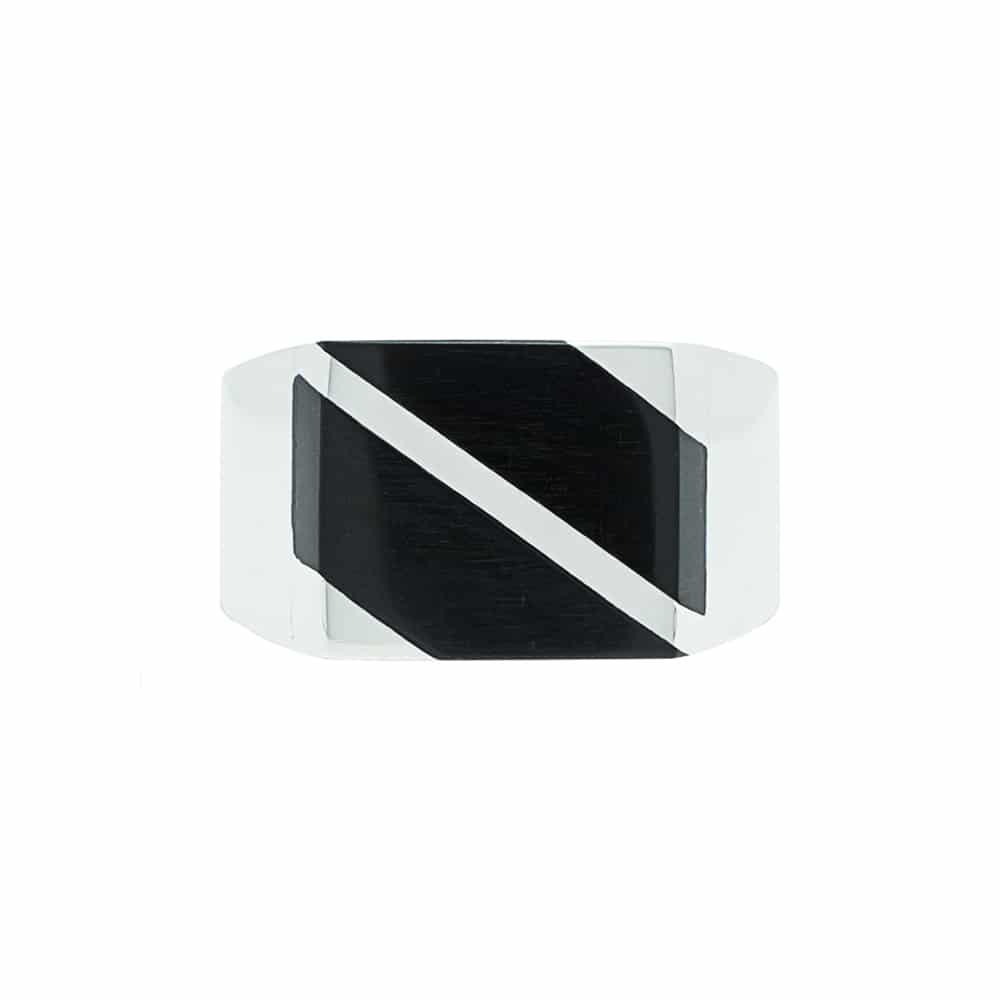 Chevalière carré vue de face