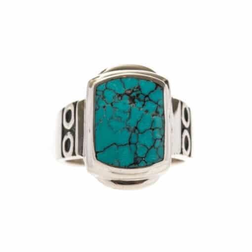 Original turquoise silver signet ring 3