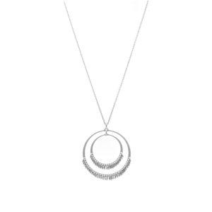 3D银项链铑戒指3