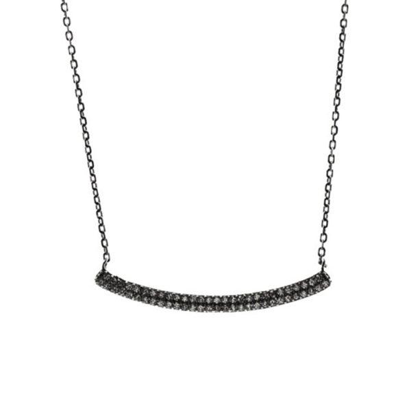 银色项链弧形发夹套装,配黑色1