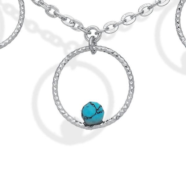 银气泡和绿松石石项链2