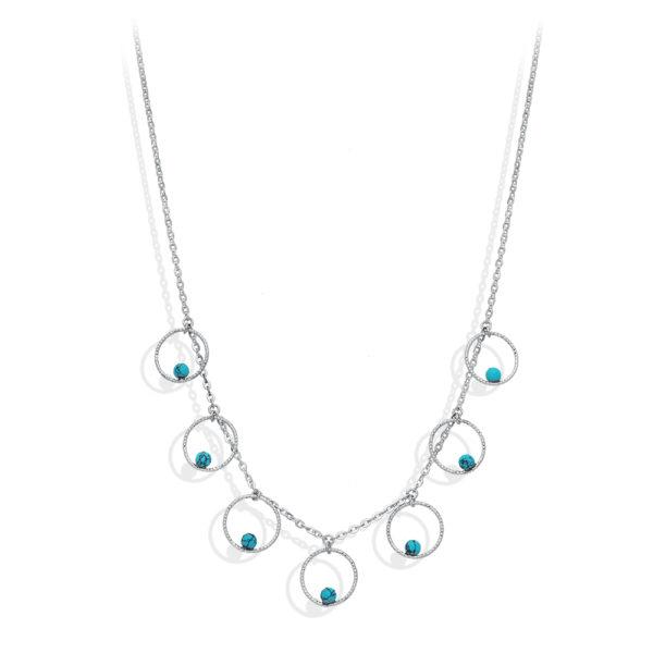 银气泡和绿松石石项链1