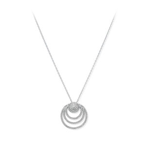 Collier argent cercle moderne serti 8