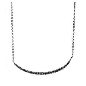 黑色弧形银项链套装7