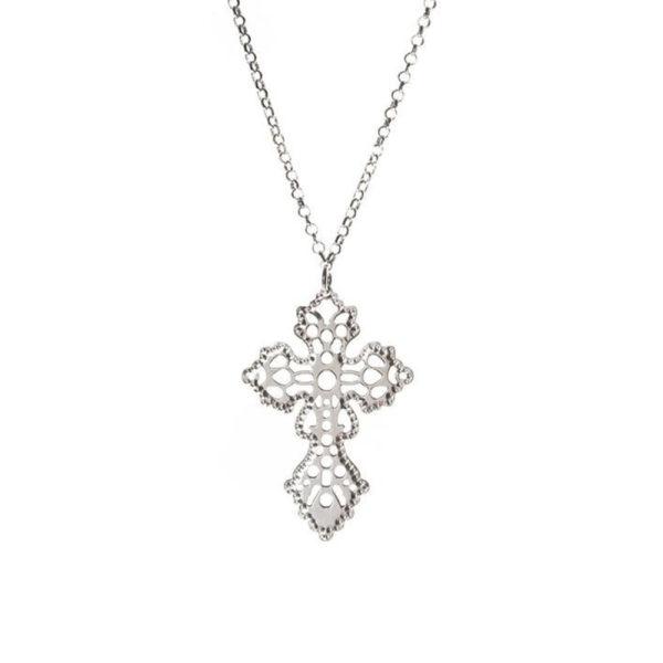 银项链花式交叉铑1