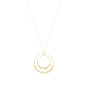 银项链3d圆圈钻石效果2