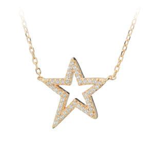 银星镶金项链9