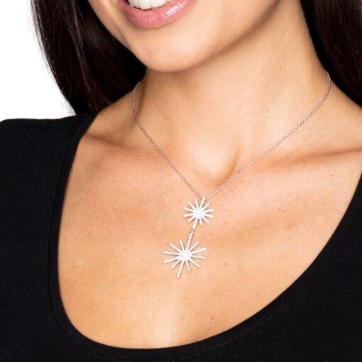 Collar estrella oro plata 4