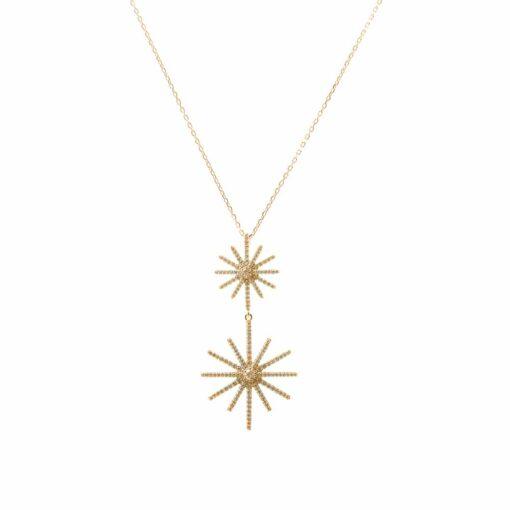 Collar estrella oro plata 3
