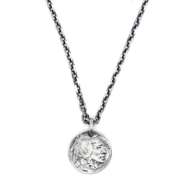 Indian medal silver necklace 3