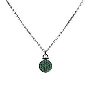 黑银项链,配绿色筹码套装6
