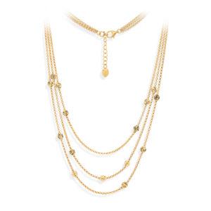 银项链配金色钻石锭4