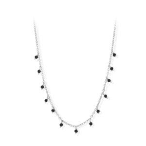 Collier argent petites goutte perles spinelle 6