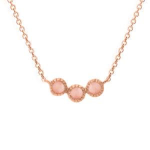 银项链粉红宝石粉红链6
