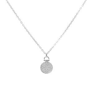 铑镀银镶宝石项链6
