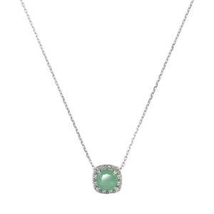 银铑项链单人方形绿色5