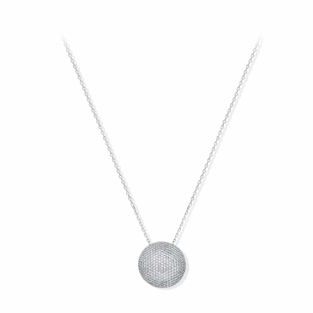 Collier argent rhodier grand model Coussin 1